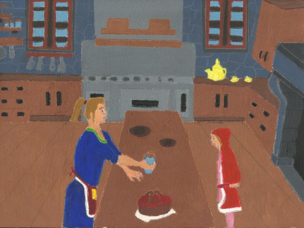 Illustration du chaperon rouge